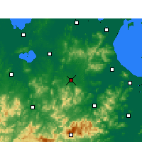Nearby Forecast Locations - Guangde - mapa
