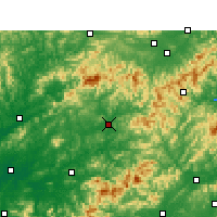 Nearby Forecast Locations - Wuyuan - mapa