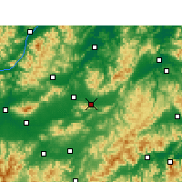 Nearby Forecast Locations - Dongyang - mapa