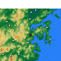 Nearby Forecast Locations - Ninghai - mapa