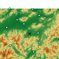 Nearby Forecast Locations - Wuyi/ZHJ - mapa