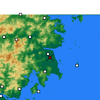 Nearby Forecast Locations - Taizhou/ZHJ - mapa