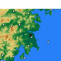 Nearby Forecast Locations - Hongjia - mapa