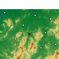 Nearby Forecast Locations - Yihuang - mapa