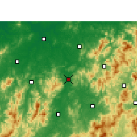 Nearby Forecast Locations - Nancheng - mapa