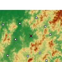 Nearby Forecast Locations - Lichuan - mapa