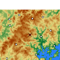 Nearby Forecast Locations - Zhouning - mapa