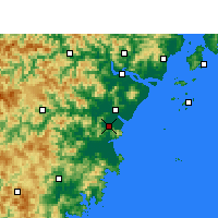 Nearby Forecast Locations - Pingyang - mapa