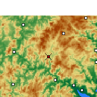 Nearby Forecast Locations - Gutian - mapa