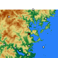 Nearby Forecast Locations - Luoyuan - mapa