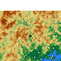 Nearby Forecast Locations - Hua'an - mapa