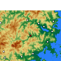 Nearby Forecast Locations - Yongtai - mapa