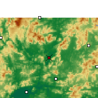 Nearby Forecast Locations - Yingde - mapa