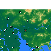 Nearby Forecast Locations - Dongguan - mapa
