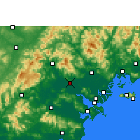 Nearby Forecast Locations - Jieyang - mapa