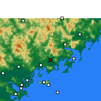 Nearby Forecast Locations - Zhao'an - mapa