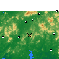 Nearby Forecast Locations - Luchuan - mapa