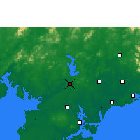 Nearby Forecast Locations - Lianjiang - mapa
