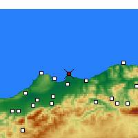 Nearby Forecast Locations - Bordj-El-Bahri - mapa