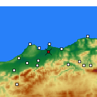 Nearby Forecast Locations - Algier - mapa
