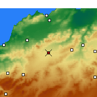 Nearby Forecast Locations - Sidi Bu-l-Abbas - mapa