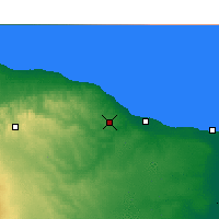 Nearby Forecast Locations - El Khoms - mapa