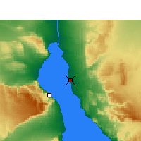 Nearby Forecast Locations - Ras Sudr - mapa
