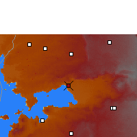 Nearby Forecast Locations - Kisumu - mapa