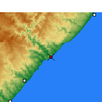 Nearby Forecast Locations - Port St. Johns - mapa