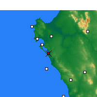Nearby Forecast Locations - Geelbek - mapa