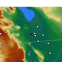 Nearby Forecast Locations - El Centro - mapa