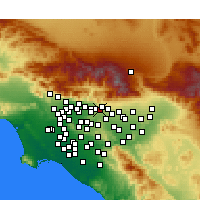 Nearby Forecast Locations - La Verne - mapa