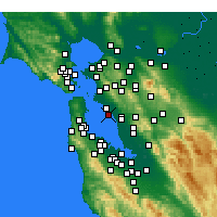 Nearby Forecast Locations - Oakland - mapa