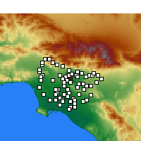 Nearby Forecast Locations - El Monte - mapa