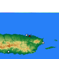 Nearby Forecast Locations - San Juan - mapa