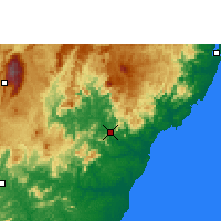 Nearby Forecast Locations - Cachoeiro de Itapemirim - mapa