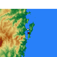 Nearby Forecast Locations - Florianópolis - mapa