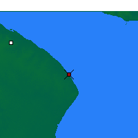 Nearby Forecast Locations - Punta Indio - mapa