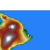 Nearby Forecast Locations - Hilo/Hawaii - mapa