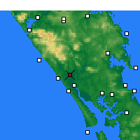 Nearby Forecast Locations - Dargaville - mapa