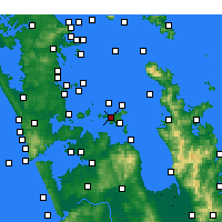 Nearby Forecast Locations - Waiheke Island - mapa