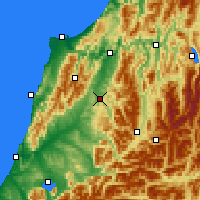 Nearby Forecast Locations - Reefton - mapa