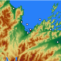 Nearby Forecast Locations - Park Narodowy Abel Tasman - mapa