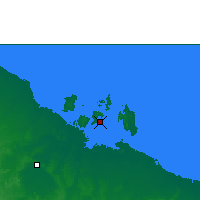 Nearby Forecast Locations - Centre Island - mapa