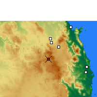 Nearby Forecast Locations - Herberton - mapa