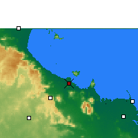 Nearby Forecast Locations - Townsville - mapa