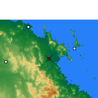 Nearby Forecast Locations - Proserpine - mapa