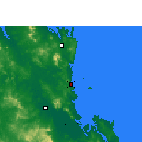 Nearby Forecast Locations - Yeppoon - mapa