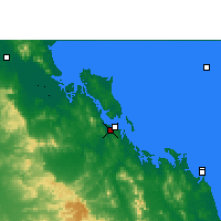 Nearby Forecast Locations - Gladstone Port lotniczy - mapa