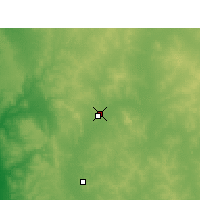 Nearby Forecast Locations - Morawa Airport - mapa
